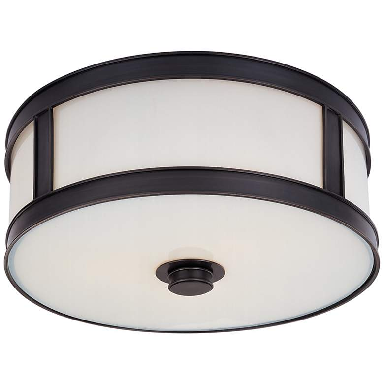 "Hudson Valley Patterson 16""W 3-Light Bronze Ceiling Light"