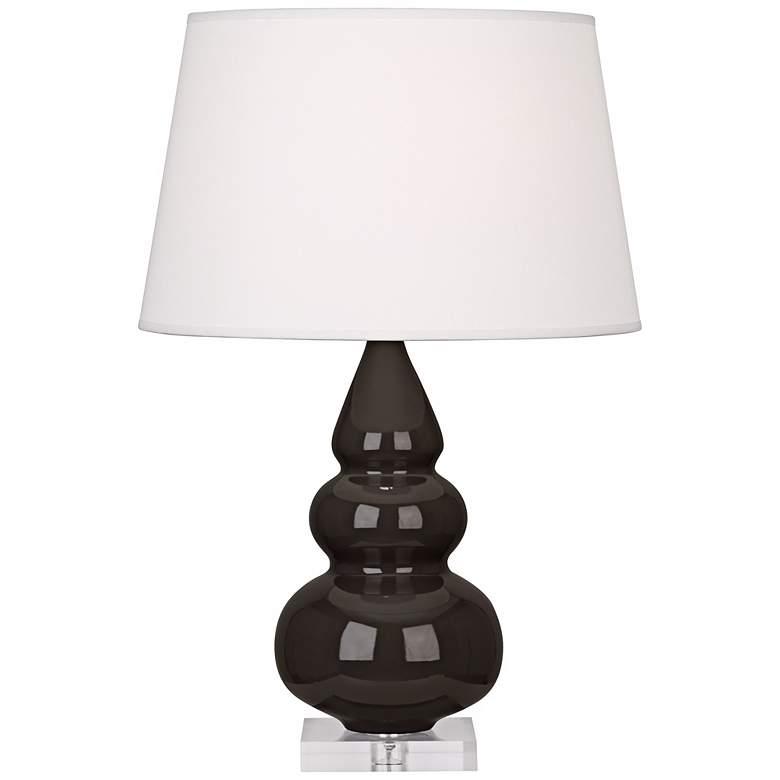 Robert Abbey Coffee Triple Gourd Ceramic Table Lamp