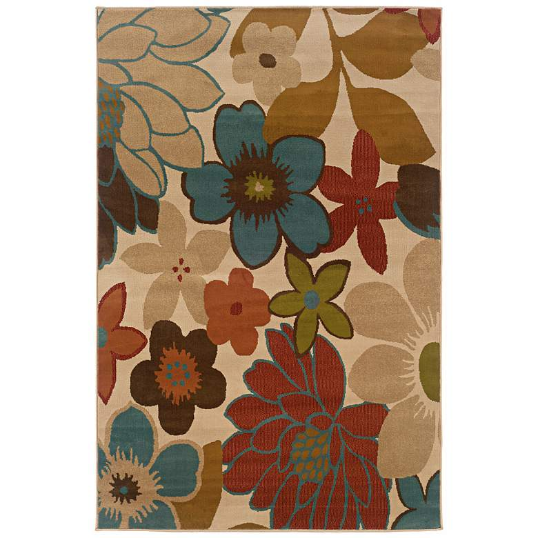 """Oriental Weavers Emerson 2040A 5'x7'6"""" Floral Area Rug"""
