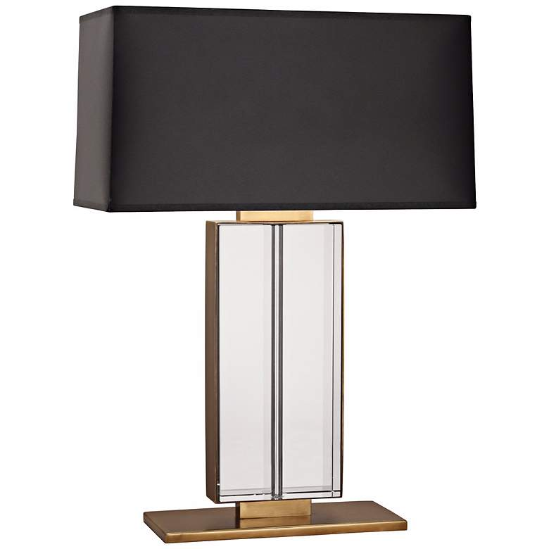 Robert Abbey Sloan Aged Brass and Crystal Table Lamp