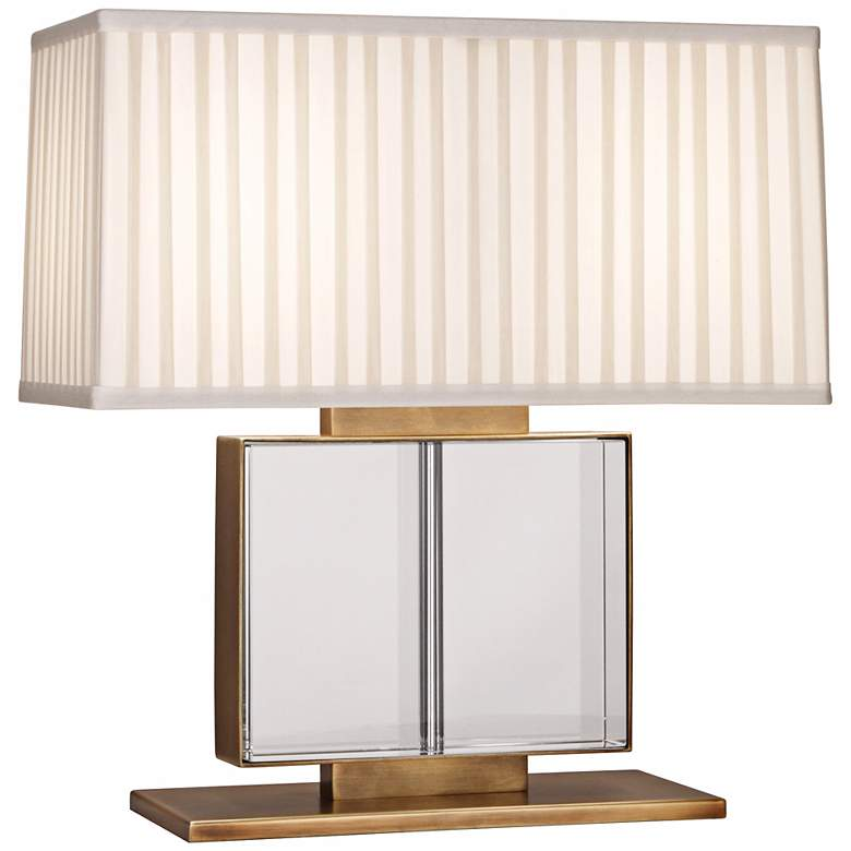 Sloan Wide Brass and Crystal Robert Abbey Accent Table Lamp
