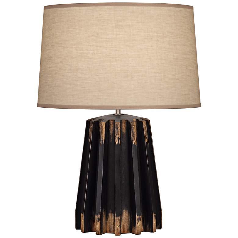 Robert Abbey Adirondack Distressed Black Gear Table Lamp