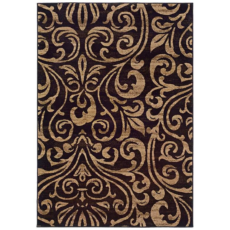 "Oriental Weavers Emerson 2033C 5'x7'6"" Black Area Rug"