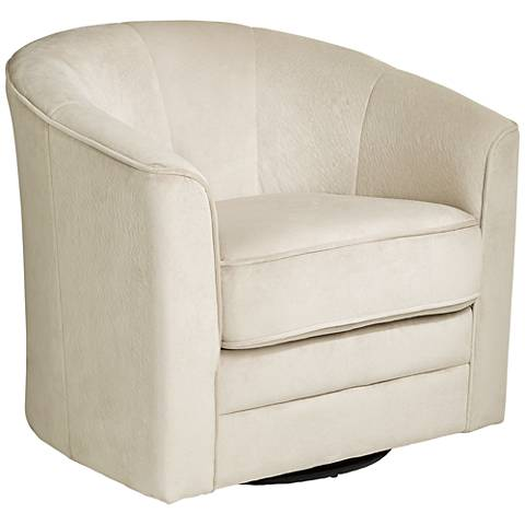 Keller Argos Muse Off-White Swivel Chair