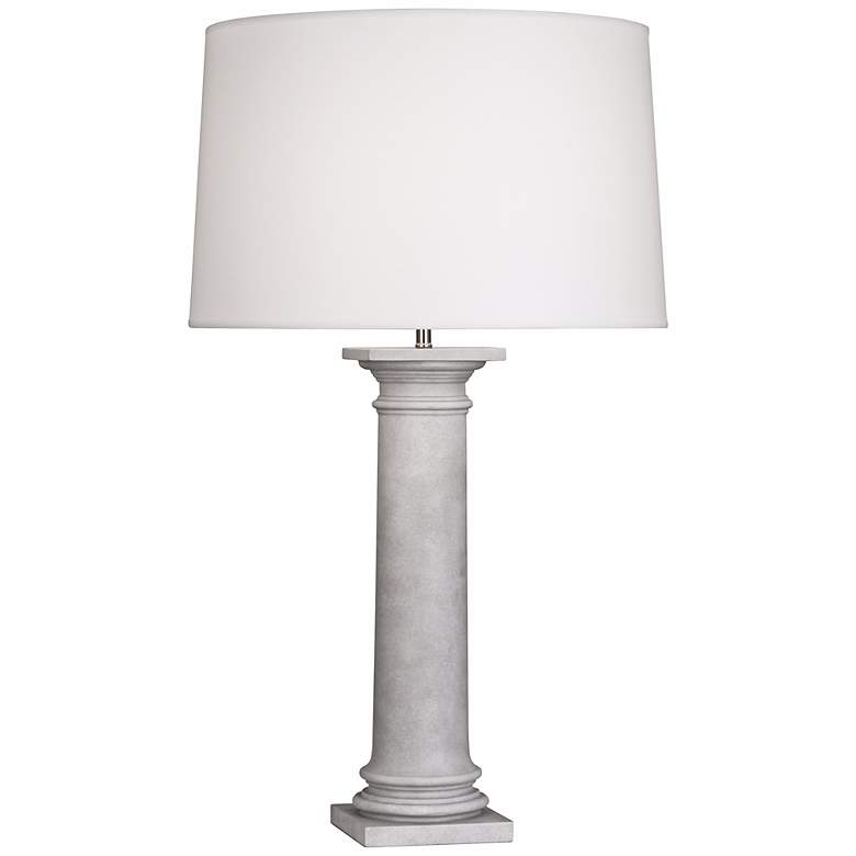 Robert Abbey Phoebe Concrete and White Table Lamp