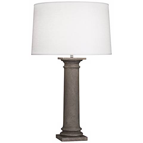 Robert Abbey Phoebe Oyster and Limestone Table Lamp