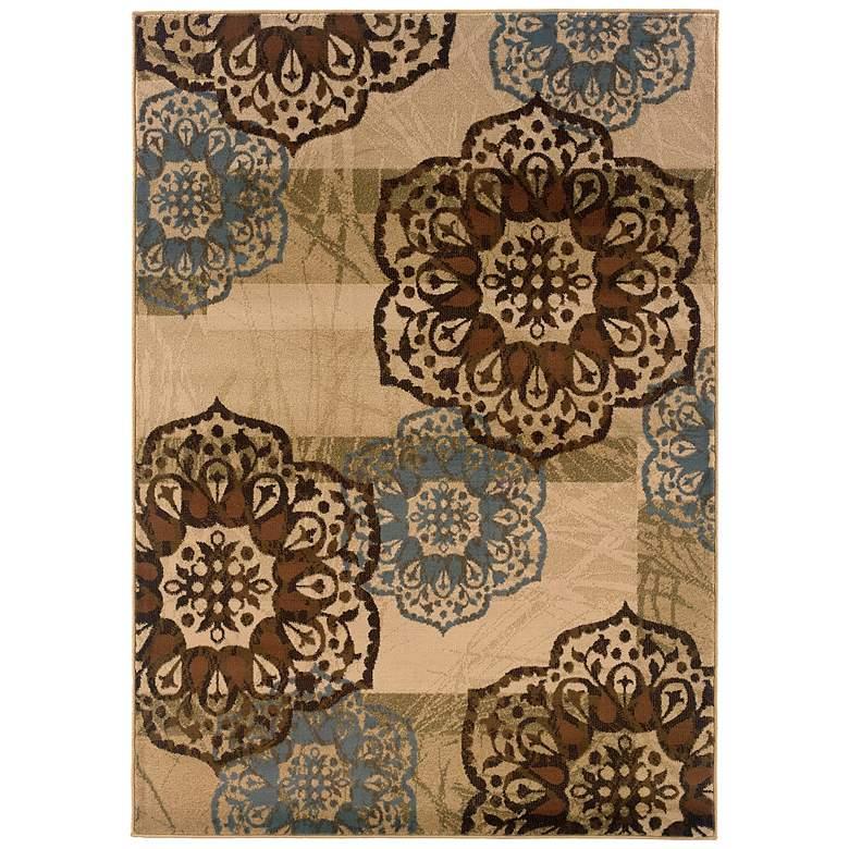 "Oriental Weavers Hudson 2797C 5'3""x7'6"" Floral Area Rug"