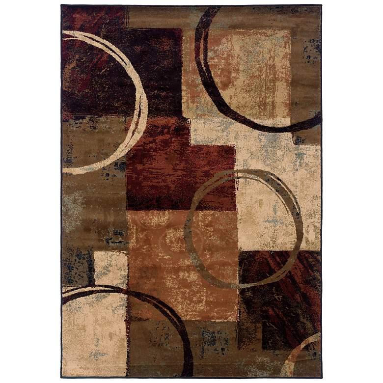 "Oriental Weavers Hudson 2544B 5'3""x7'6"" Modern Area Rug"