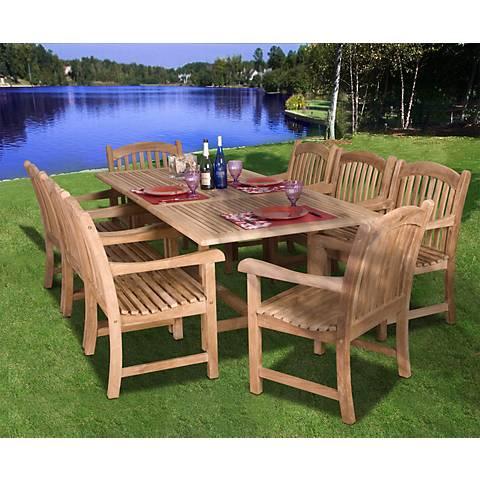 9 Pieces Teak Middleham Outdoor Dining Set