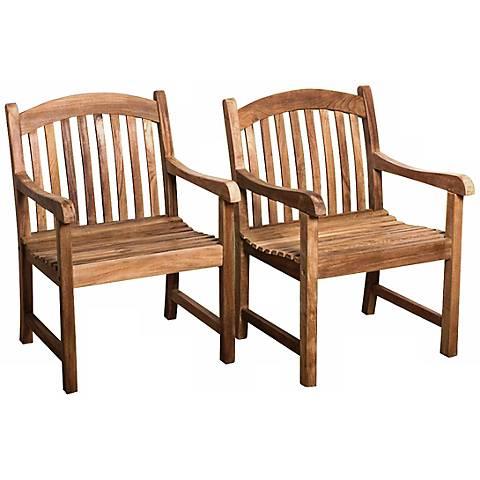 Teak Middleham Outdoor Armchairs Set of 2