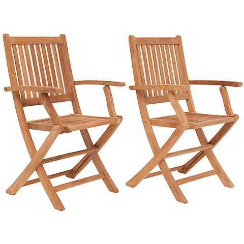 Teak Isleworth Outdoor Folding Armchair