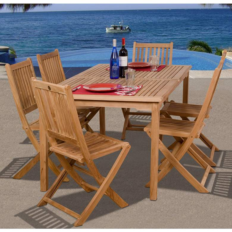 7 Pieces Teak Shoreborne Outdoor Dining Set