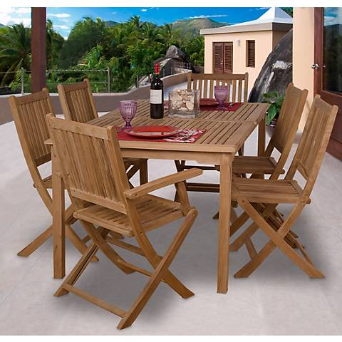 7 Pieces Teak Strathearn Outdoor Dining Set