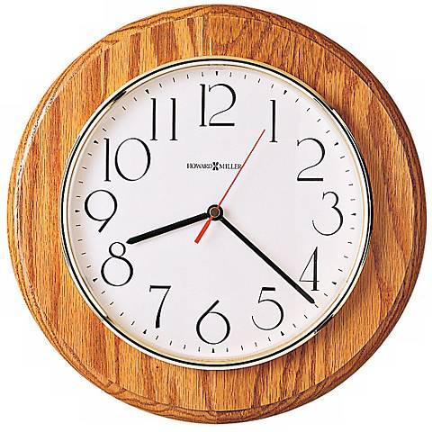 """Howard Miller Grantwood 11 1/2"""" Wide Oak Wall Clock"""