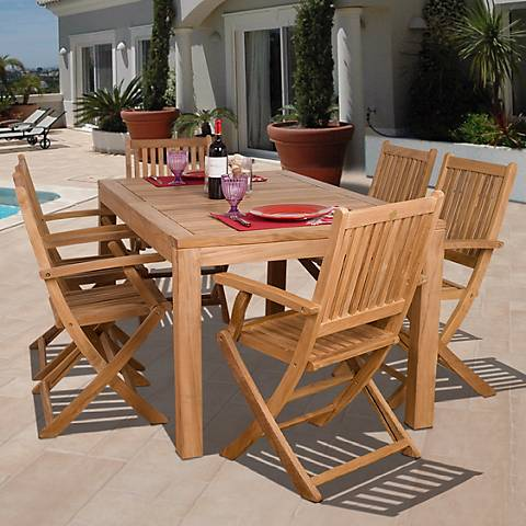 7 Pieces Teak Loma Outdoor Dining Set