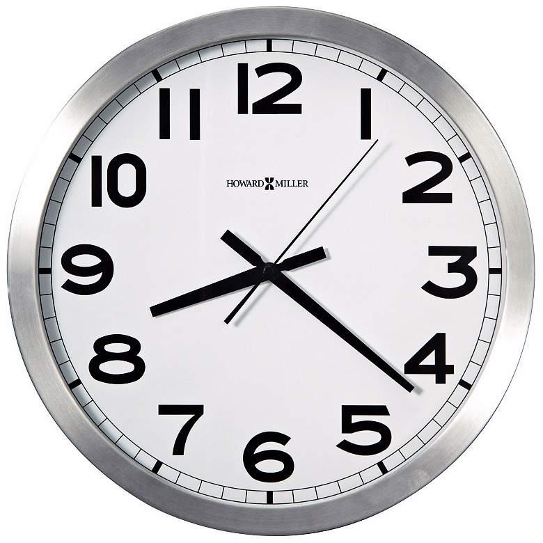 "Howard Miller Spokane 15 3/4"" Wide Aluminum Wall Clock"