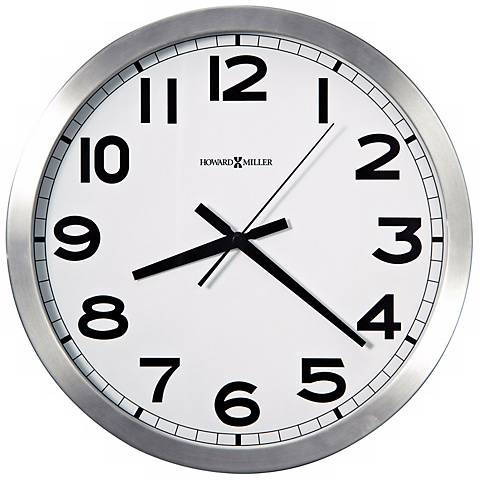 "Howard Miller Spokane 15 3/4"" Wide Aluminum Wall Clock"