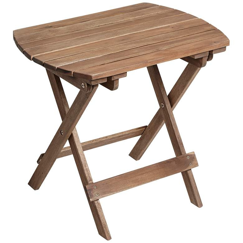 """Monterey 20"""" Wide Natural Wood Outdoor Side Table"""