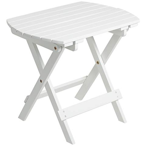 Monterey White Outdoor Wood Side Table