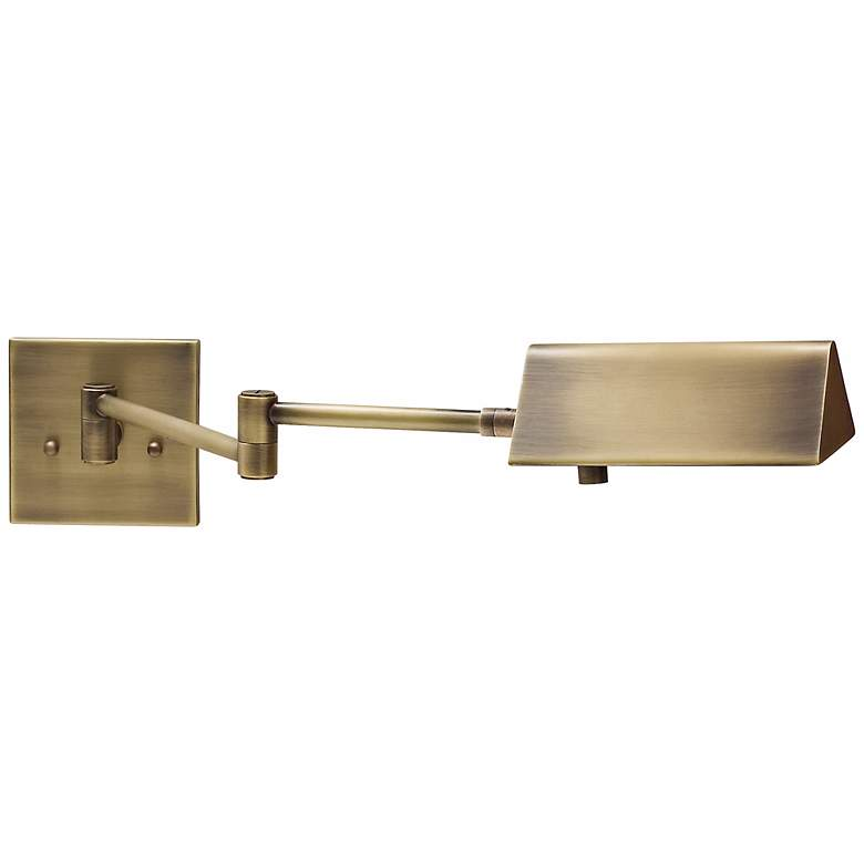 House of Troy Pinnacle Brass Swing Arm Wall
