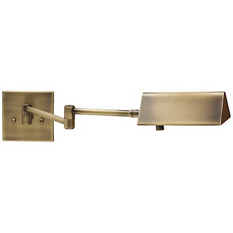 House of Troy Pinnacle Brass Swing Arm Wall Lamp