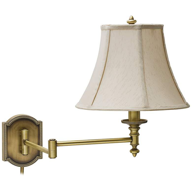 House of Troy Decorative Brass Swing Arm Wall Lamp