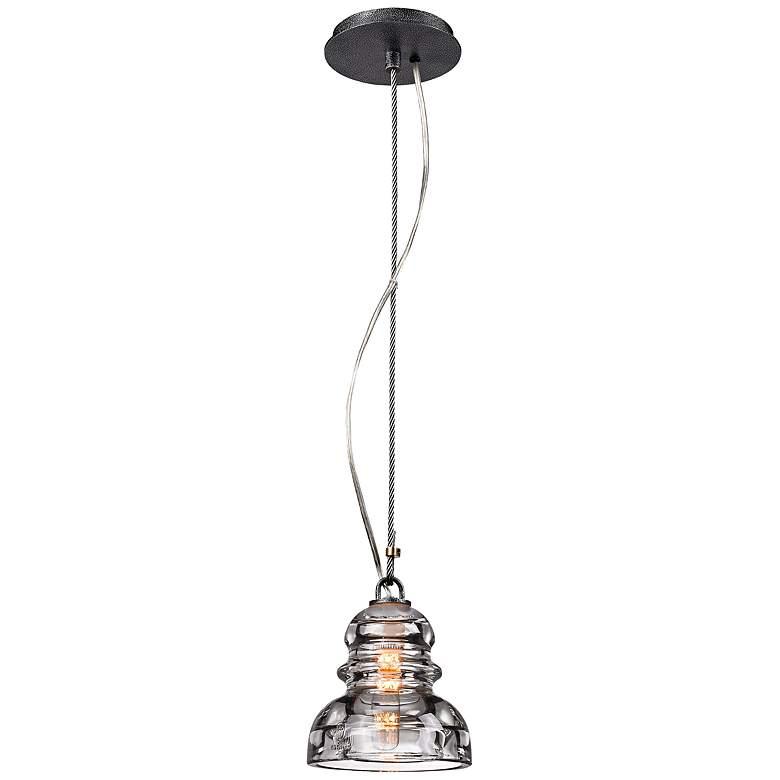 """Menlo Park 5 3/4"""" Wide Old Silver Mini Pendant Light"""