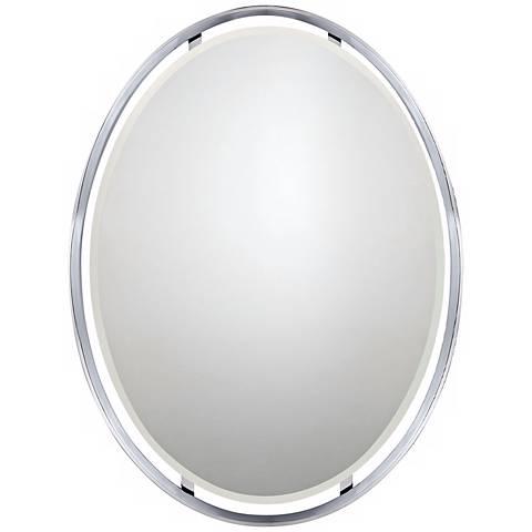 "Quoizel Uptown Ritz 26"" x 34"" Oval Wall Mirror"