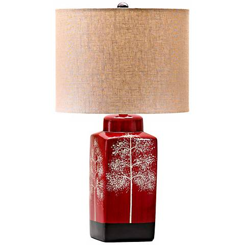Thomas Branch Details Red Table Lamp
