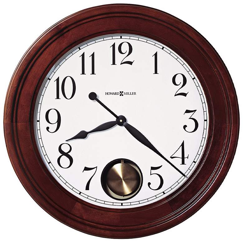 "Griffith 25"" Cherry Hardwood Pendulum Wall Clock"