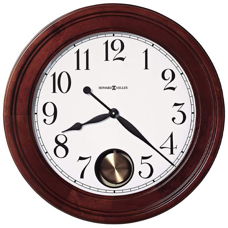 "Griffith 25"" Cherry Hardwood Pendulum Wall Clock"