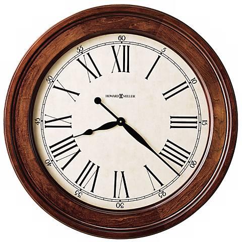 "Howard Miller Grand Americana 30"" Wide Aged Wall Clock"