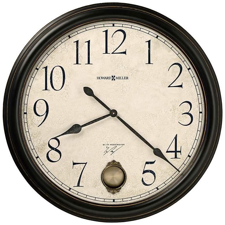 "Howard Miller Glenwood Falls 36"" Black Satin Wall Clock"