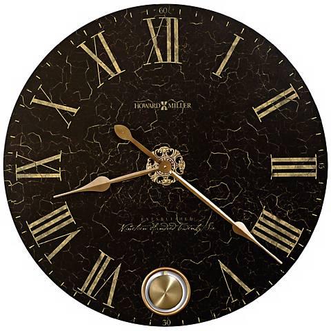 "Howard Miller 32"" Wide London Night Aged Dial Clock"