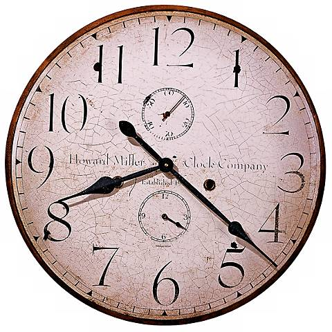 "Howard Miller Original IV 25"" Wide Antique Wall Clock"