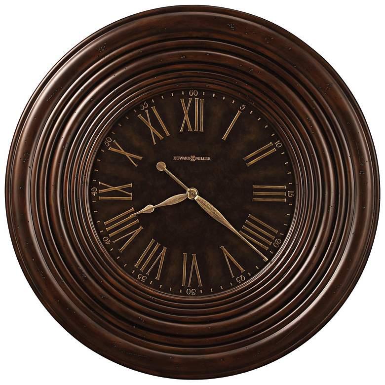 "Howard Miller 36"" Wide Harrisburg Wide Frame Wall Clock"