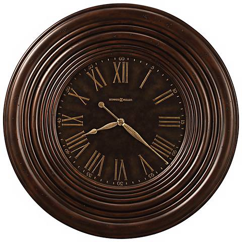 "Howard Miller 36"" Wide Harrisburg Wide Frame Wall Clock"