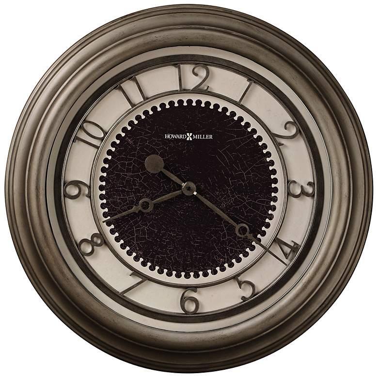 "Howard Miller Kennesaw 25 1/2"" Antique Nickel Wall Clock"
