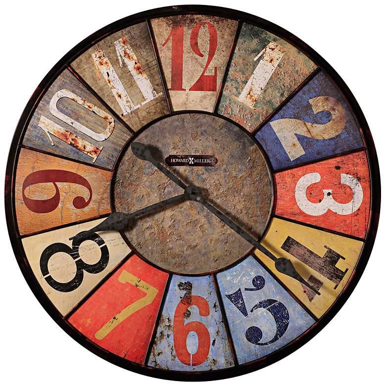 "Howard Miller County Line 30 3/4"" Wide Metal Wall Clock"