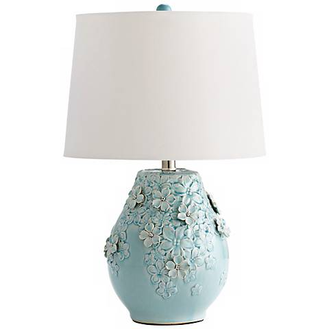 Eire Ceramic Sky Blue Table Lamp
