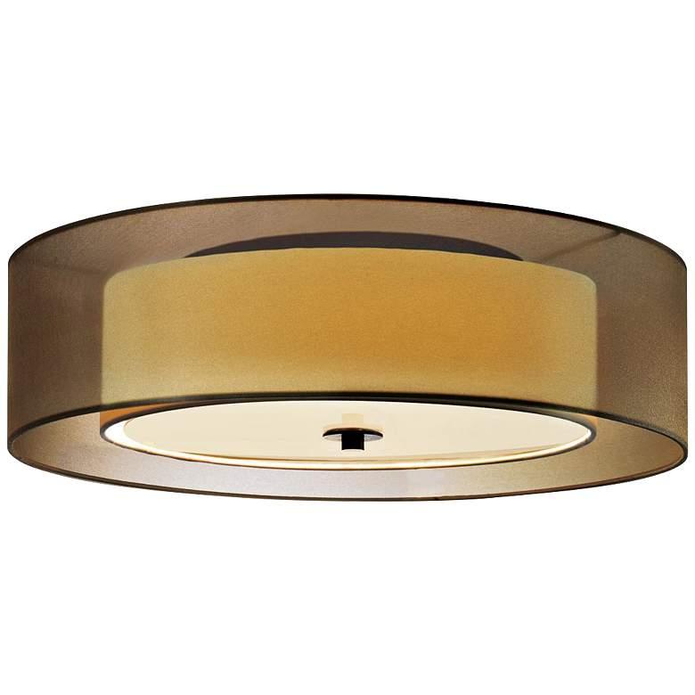 "Sonneman Puri 16""W Black Brass Fluorescent Ceiling Light"