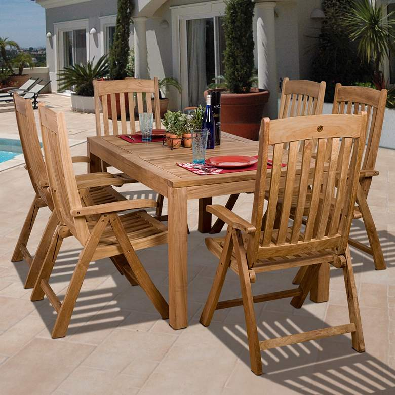 7-Piece Teak Paseo Outdoor Dining Set