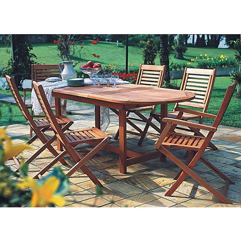 Forli Extendable Oval 7-Piece Patio Dining Set