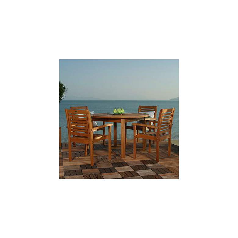 Forli Round 5-Piece Outdoor Dining Set
