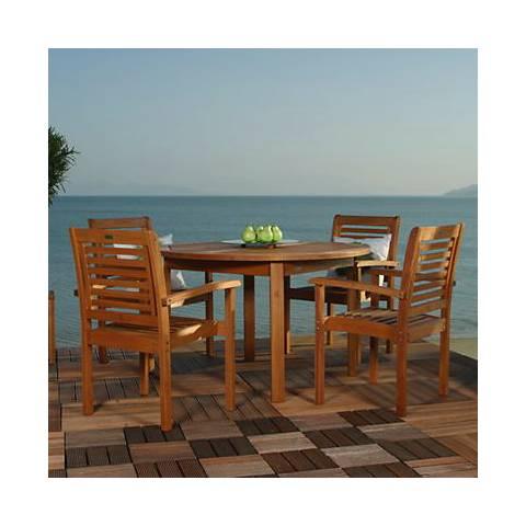 Forli Round 5-Piece Outdoor Dining Set