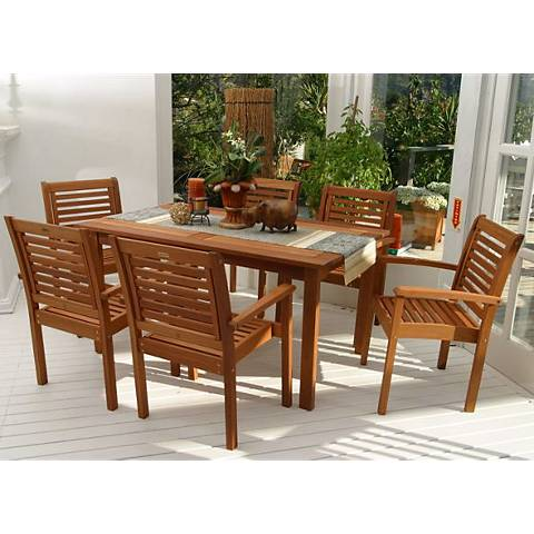 Forli Rectangular 7-Piece Patio Dining Set