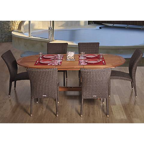 Santa Fe Extendable Oval 7-Piece Patio Dining Set