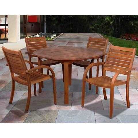 Cerrissa 5-Piece Eucalyptus Round Dining Set