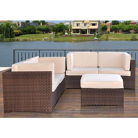 Aquitaine Off-White Outdoor Converation Seating Set