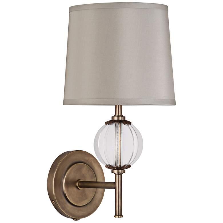 "Robert Abbey Latitude 15 1/2""H Aged Brass Wall Lamp"